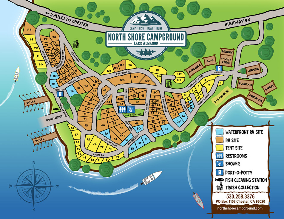 North Shore Campground map
